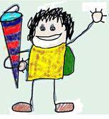 Logo Kind mit Schultüte