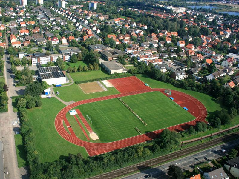 Luftbild Außensportanlage