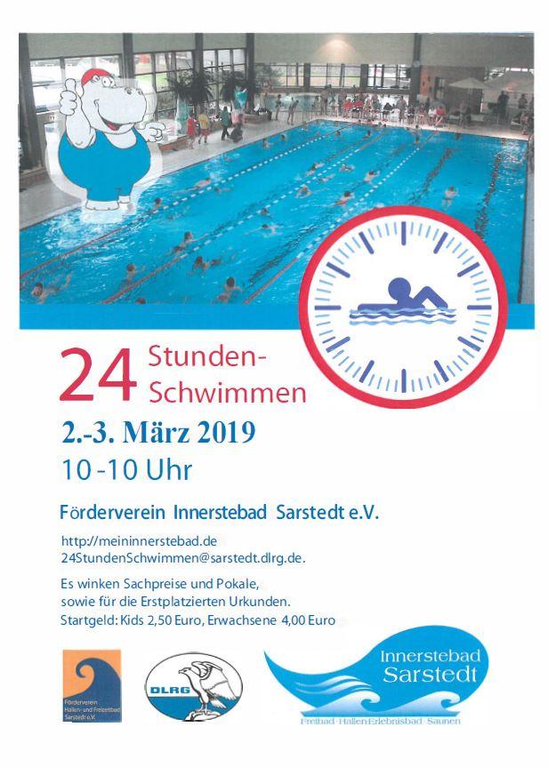 Plakat 24-Stunden-Schwimmen
