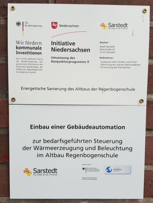 Klimaschutz Bauschild Regenbogenschule