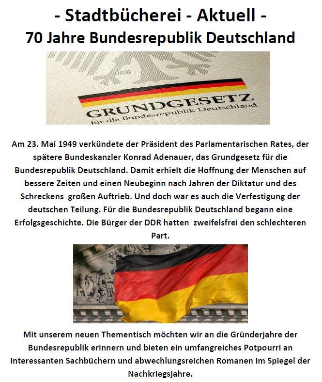 Thementisch Bundesrepublik