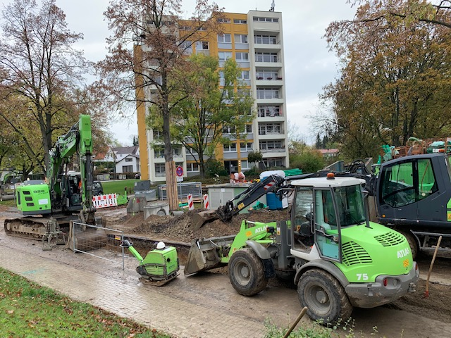 Ausbau der Lindenallee - Foto Baustelle 1