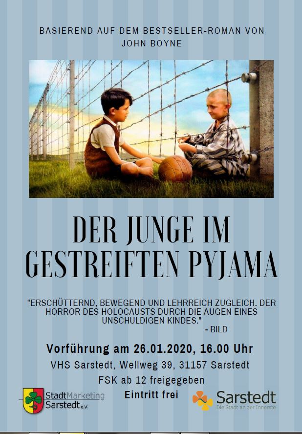 "Plakat ""Der Junge im gestreiften Pyjama"""