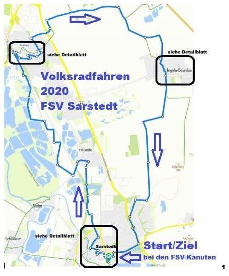 Volksradfahren 2020 - Streckenverlauf