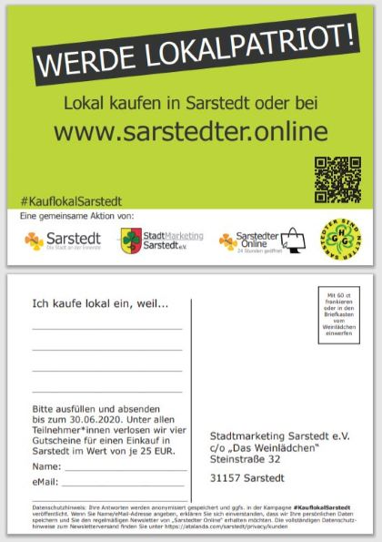 #KauflokalSarstedt - Postkarte