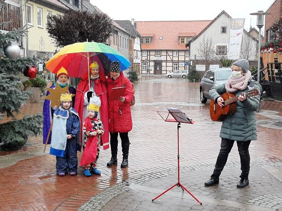 Bild 1 - Sternsinger in Sarstedt, 8.1.2021