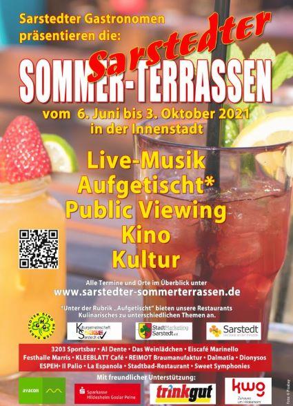 Plakat Sarstedter Sommerterrassen
