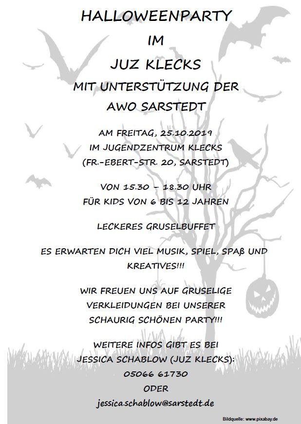 Plakat Halloweenparty